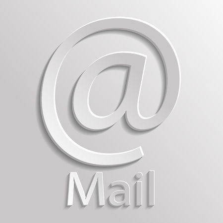 App Icon gray mail with shadow Vector