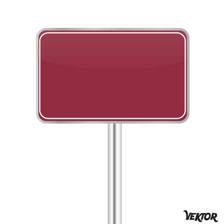 Board sign on white background Vector