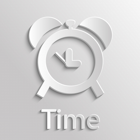 App Icon Gray Time with Shadow Vector