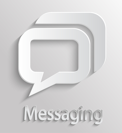 App Icon gray message with shadow Vector