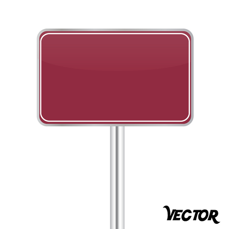 Board sign on white background Stock Vector - 24261753