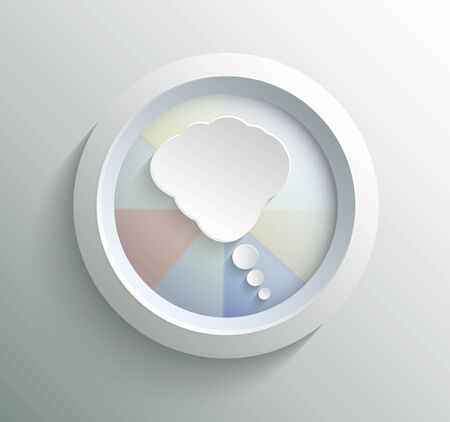 App icon metal bubble with shadow on technology circle and grey background Vector