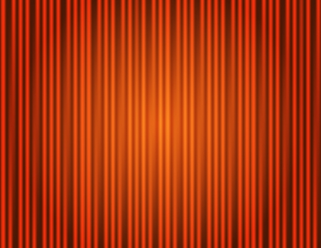 Curtain orange closed with light spots in a theater Vector