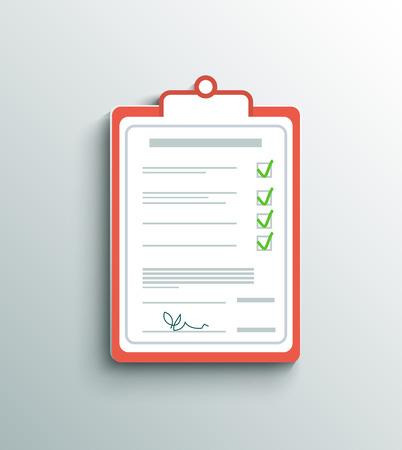 credit cart: Flat design delivery signature clipboard Illustration
