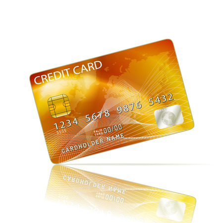 visa credit card: Credit Card Icon Isolated on White