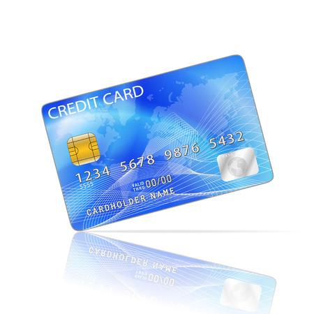tarjeta visa: Icono de la tarjeta de crédito aislada en blanco