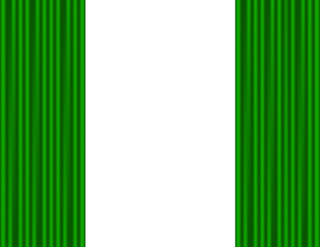 Curtains green on a white background Vector