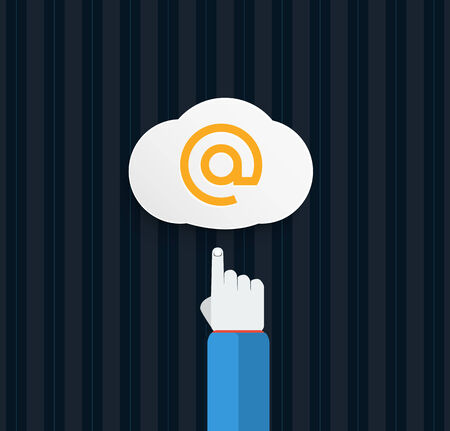 surfing the net: Browser cloud in flat design Illustration