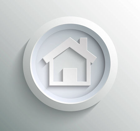 App icon metal home with shadow on technology circle and grey  Vector