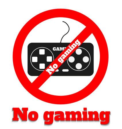 abstain: No gaming icon warning symbol on white