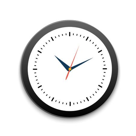 office clock: Reloj redondo de la oficina Vectores
