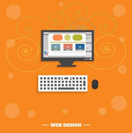display size: Web design concept