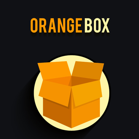 carton box: Carton box in flat design