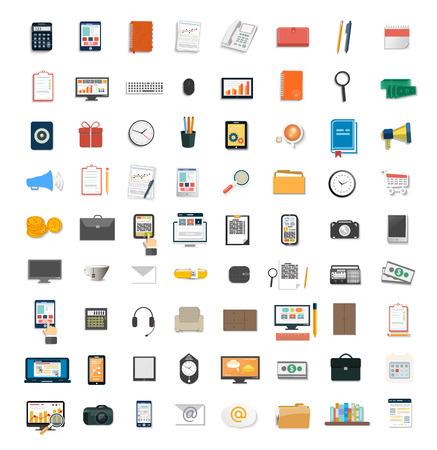 Satz von verschiedenen Finanzdienstleistungspositionen, Unternehmensf�hrung Symbol, Marketing Artikel und Gesch�ftsausstattung
