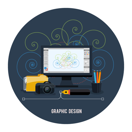Web design concept. Graphic design Vector