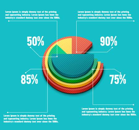 graficas de pastel: Gráfico de sectores de negocios para los documentos e informes de documentos, informes, gráfico, infografía, plan de negocios