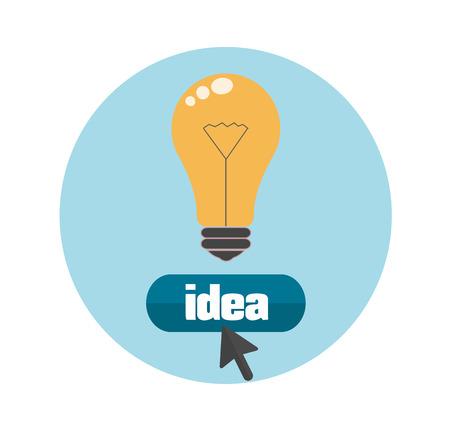 Gl�hbirne Idee Konzept auf flaches Design