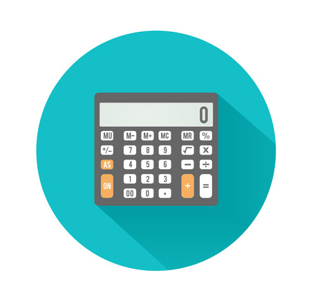 Calculator icon. Business concept with mathematics symbols