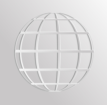Worldnet the Internet. A sphere from strips the symbolizing Internet. Internet browser. 3d Earth Vector