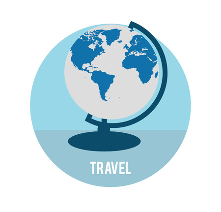 business travel: Planet Earth. Gesch�ftsreisen Konzept