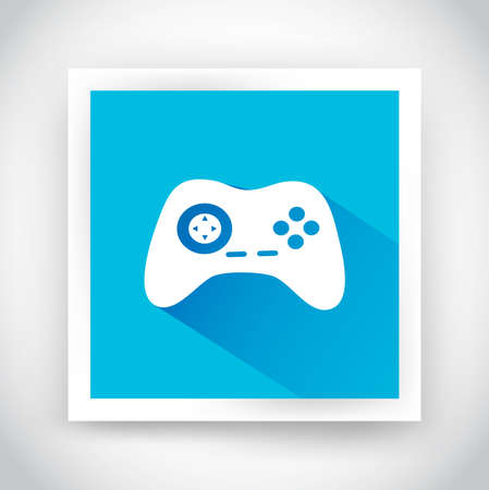Icon of joystick for web and mobile applications. Flat design with long shadow Vector