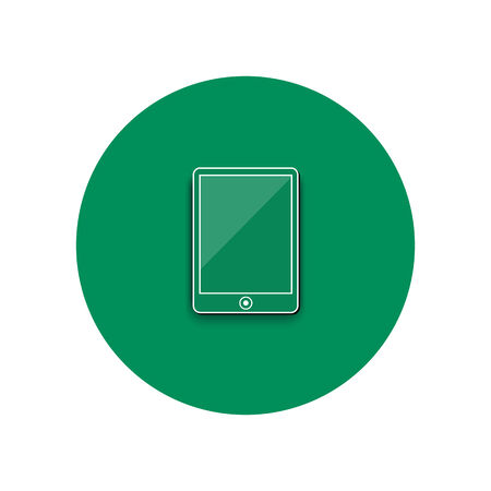 smartphone business: Line icon of smartphone. Smartphone business concept. Office and business work elements
