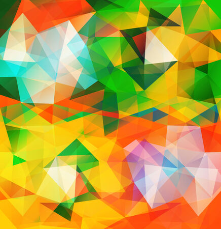 Triangle background. Pattern of geometric shapes. Multicolor mosaic banner with place for your text Vector