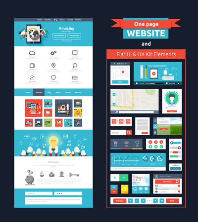 wordpress: Website page template.  Illustration