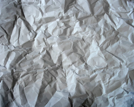 wrinkled: Texture of crumpled paper background. Creased paper texture. Vector illustration