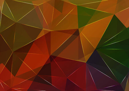 Triangle background. Pattern of geometric shapes. Multicolor mosaic banner with place for your text. Abstract background Vector