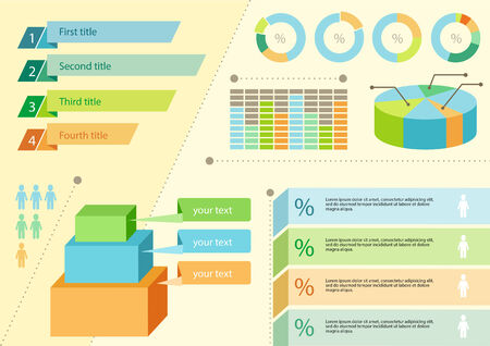 schedule system: Infographics icons and elements for presentation Illustration