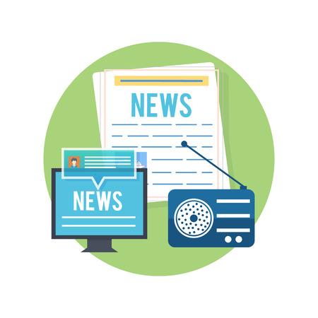 I mass media concetto news quotidiano radiofonico