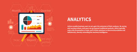 financial year: Stand with charts and parameters. Business concept of analytics