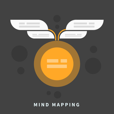 Mind map template with place for your content Illustration