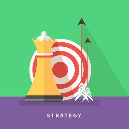 Concept for business strategy and mission Vector