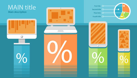 electronic device: Infographic of electronic device Illustration