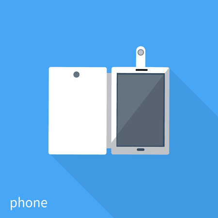 smartphone business: Smartphone business concept icon of flat design