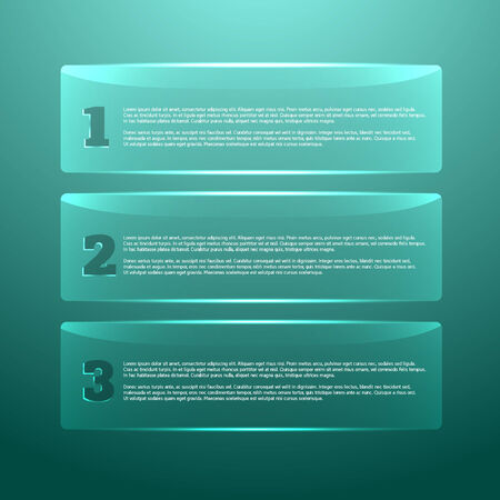 digital art: Set of glossy banners with shiny lights for business design, backgrounds, infographics, step presentation, websites, number options and reports. Step infographic