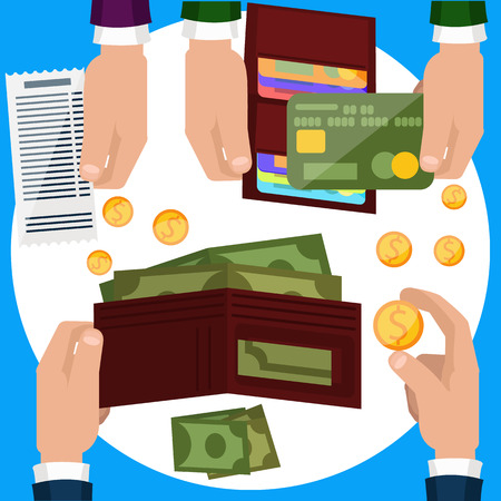 Businessmen hands with money. Payment concepts