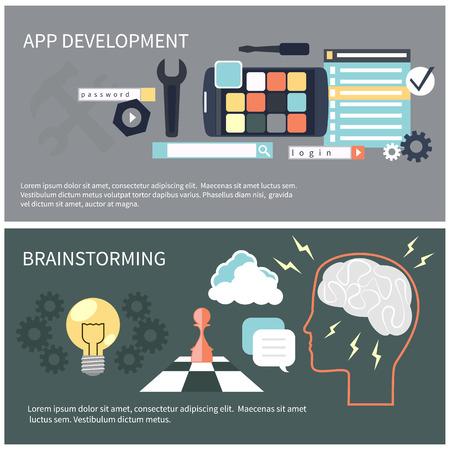 programing: Concepto de dise�o Piso en el desarrollo de aplicaciones y de intercambio de ideas con las herramientas, c�digo de programaci�n, think humana