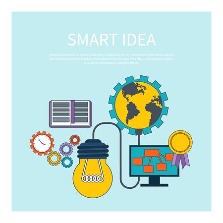 Smart idea concept. Critic vs. creator concept in flat design