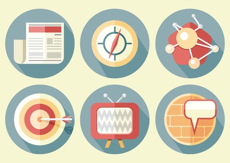 achievement clip art: Business concepts icons in flat style project management and planning Illustration