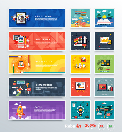 internet icons: Management digital marketing srartup and analytics and development launch. Banners for websites. Icons for web design analytics graphic design and pay per click internet advertising in flat design