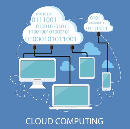 Services de Cloud concept. Ensemble de conception plate concepts icônes pour les services et applications de téléphonie mobile. Icônes pour la conception web, des services et de la communication