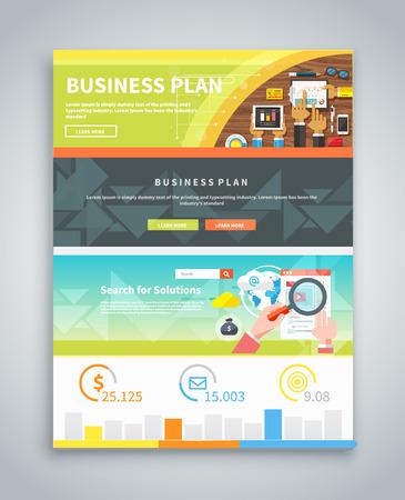 estrategia: Infograf�a folletos comerciales banderas Analitics, estrategia. Visualizaci�n de datos gr�ficos estilizados Moderno. Puede ser utilizado para la web banners marketing y material promocional, folletos, plantillas de presentaci�n. Estrategia de plan de negocios con la presentaci�n de la pantalla t�ctil