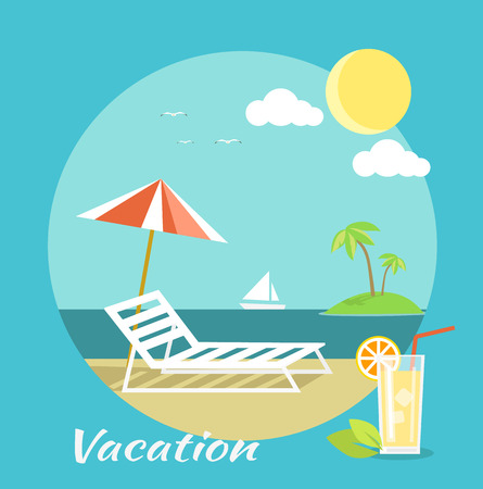 flying boat: Icons set of traveling, planning a summer vacation, tourism and journey objects and passenger luggage in flat design. Vacation on beach. Different types of travel. Business travel concept on banner Illustration