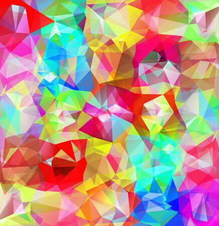 multicolored: Abstract geometric background. Multicolored triangles background. Beautiful inscription. Triangle background with bright lines. Pattern of crystal geometric shapes