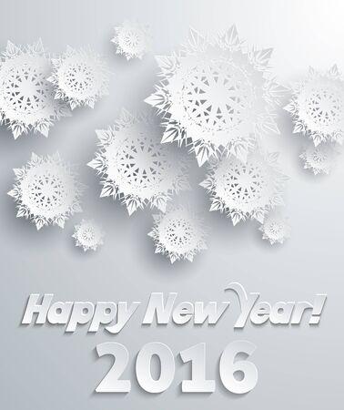 copo de nieve: Los copos de nieve de fondo para el invierno y el A�o Nuevo, tema de la Navidad. Nieve, navidad, copo de nieve, invierno copo de nieve. Los copos de nieve de papel 3D. Feliz a�o nuevo copo de 2016. Plata. Los copos de nieve sombra