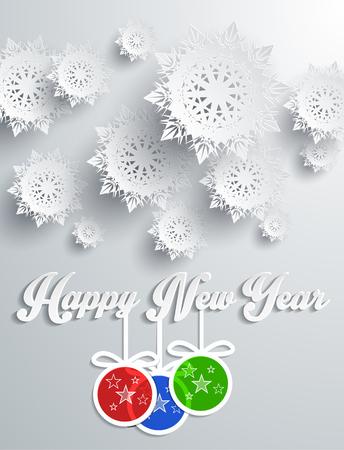 flocon de neige: Flocons de neige fond pour l'hiver et le Nouvel An, le th�me de No�l. Neige, no�l, fond flocon de neige, hiver, flocon de neige. Flocons de neige en papier 3D. Bonne ann�e. Flocon de neige d'argent. Les flocons de neige et des balles