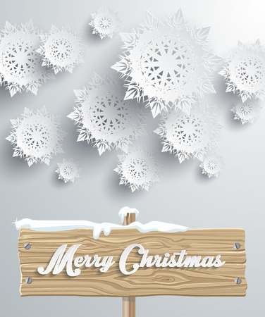christmas patterns: Merry Christmas board snowflake background. Wood tablet, xmas greeting, holiday celebration, winter happy december, banner celebrate, festive decorative text letter illustration